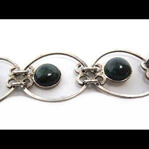 Vintage agate stone bracelet from Israel.
